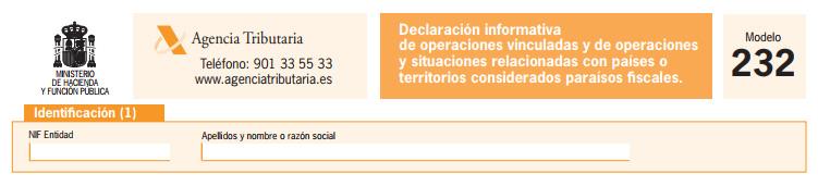 Nueva Declaración Informativa Modelo 232
