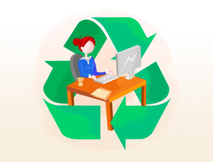 ¿Es posible reciclar en la oficina?